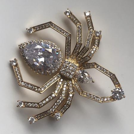 Spider Broşă Gold1