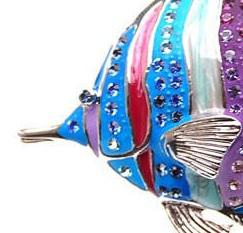 Broşă Multicolour Clown Fish Blue by Borealy1