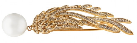 Brosa Gold Branch Pearl by Borealy [1]