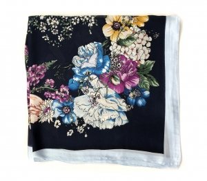 Brosa Secret Garden Key & Esarfa Borealy Flowers Blue2