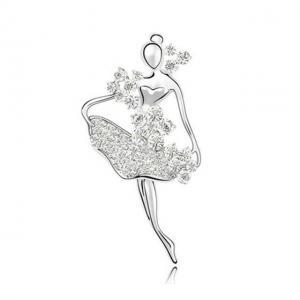 Broşă Balerină - White Swan by Borealy0