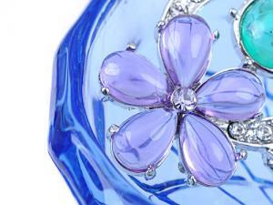 Broşă Flowers Turquoise & Purple Crystal Borealy3