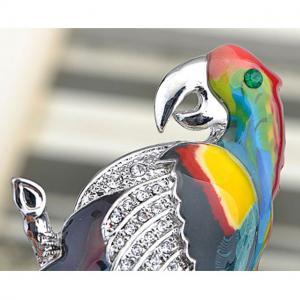 Broşă Multicolour Papagal by Borealy1