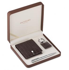 Brown Natural Leather Accessories Set for Men by Jos von Arx0