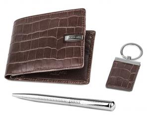 Brown Natural Leather Accessories Set for Men by Jos von Arx1
