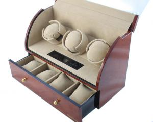 Brown Watch Winder Basel 3 by Designhütte - Made in Germany2
