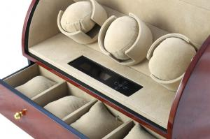 Brown Watch Winder Basel 3 by Designhütte - Made in Germany3