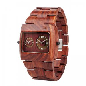 Jupiter Brown Wood Watch for Men - Ceas 100% din lemn lucrat manual0