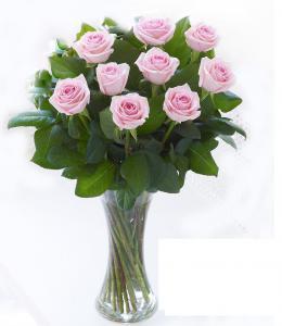 Buchet 19 trandafiri cu vază1