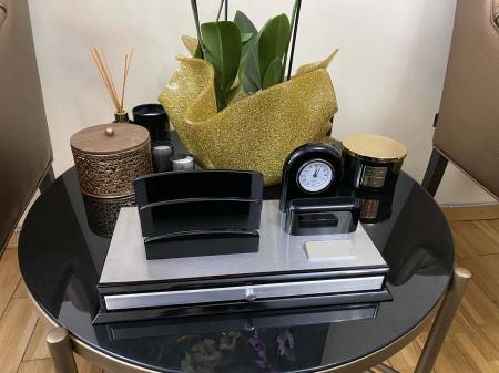 Premium Business Desk Silver [2]