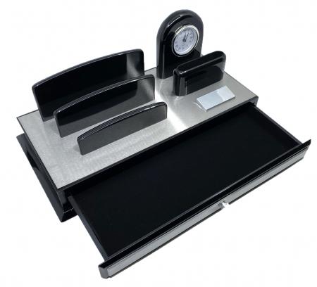 Premium Business Desk Silver [1]