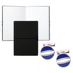 Set Butoni Borealy Elegant Blue Circle si Note pad Black Hugo Boss0