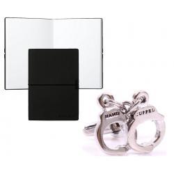 Set Butoni Borealy Fifty Shades of Grey for Him si Note pad Black Hugo Boss