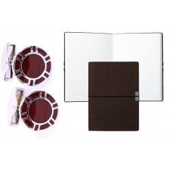 Set butoni Borealy Luxury Dark Red si Note pad Burgundy Hugo Boss