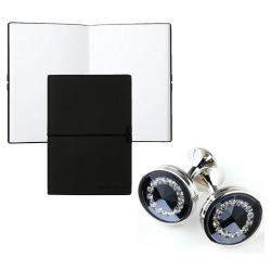 Set Butoni Borealy Platinum si Note pad Black Hugo Boss0
