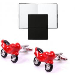 Set Butoni Borealy Red Motorcycle si Note pad Black Hugo Boss0