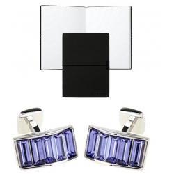 Set Butoni Borealy Violet Arc si Note pad Black Hugo Boss