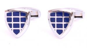 Butoni Borealy Silver& Blue Triangle