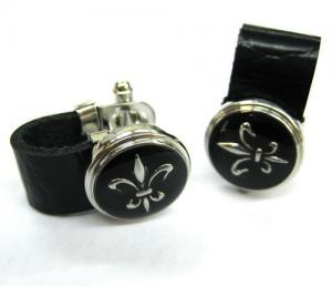 Butoni Leather Black & Silver0