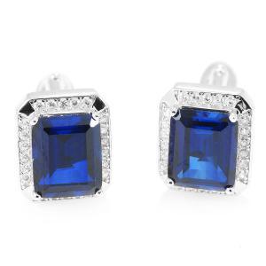 Butoni Borealy Luxury Safire 9 carate Argint 9250