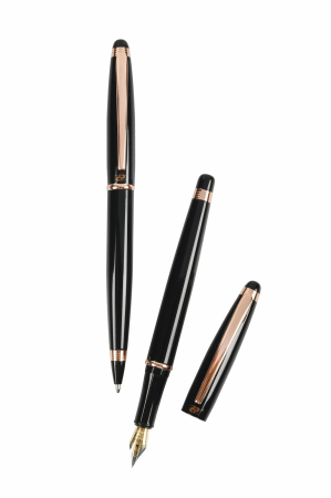 Cadou Business Black & Rose Gold Stilou si Pix1