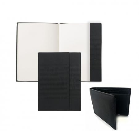 Cadou Business Notebook Hugo Boss si Portofel Piele Naturala - personalizabil