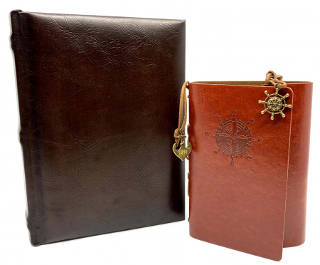 Cadou Leather Book - Cutie de Depozitare si Agenda by Borealy0