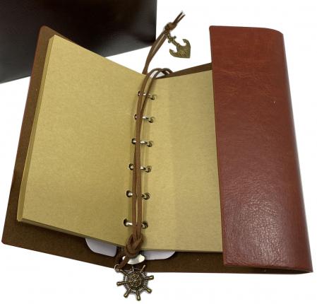 Cadou Leather Book - Cutie de Depozitare si Agenda by Borealy3