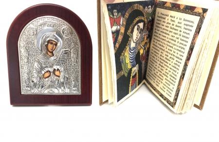 Cadou Icoana Argint 925 Maica Domnului si Carte de Rugaciuni3