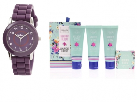 Cadou Purple Ceas Cacharel si Cosmetice Scottish Fine Soaps