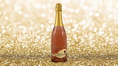 Cadou Rose Gold Luxury Şampanie - cu foiţă de aur 23 karate & Bomboane Geisha4
