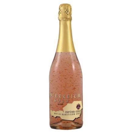Cadou Rose Gold Luxury Şampanie - cu foiţă de aur 23 karate & Bomboane Geisha3