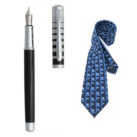 Cadou Style Blue Cravata Matase si Stilou Ungaro Evoluzione [0]