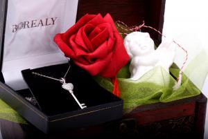 Cadou Angel of Love & Key Pendant Argint 9251