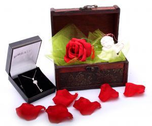 Cadou Angel of Love & Key Pendant Argint 9254