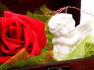 Cadou Angel of Love & Key Pendant Argint 9253