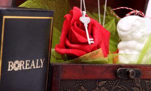 Cadou Angel of Love & Key Pendant Argint 9256