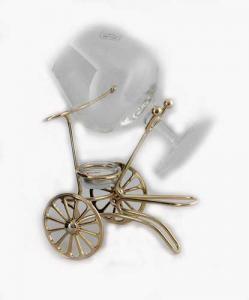 Încălzitor de cognac Chinelli Wheels placat cu aur - Made in Italy3