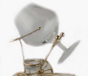Încălzitor de cognac Chinelli Wheels placat cu aur - Made in Italy2