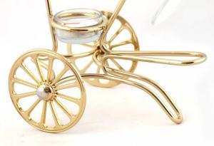 Încălzitor de cognac Chinelli Wheels placat cu aur - Made in Italy1