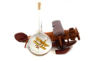 Cadou Airplane Bottle -  Sticla Lucrata Manual1