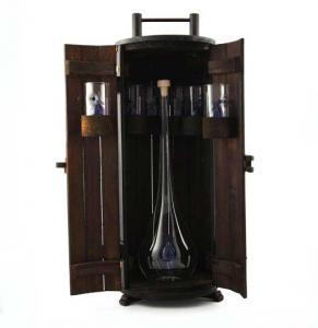 Minibar din lemn - Sticla Lucrata Manual1