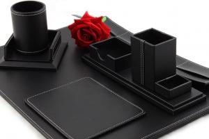 Business Desk Multi Black Leather1