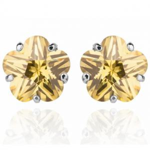 Cercei Borealy Sapphire Studs Flower Cut Lime Green0