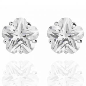 Cercei Borealy Sapphire Studs Flower Cut0