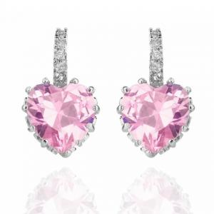 Cercei Borealy Sapphire Heart Pink0