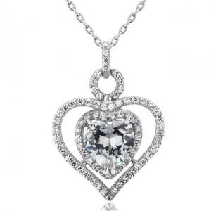 Colier Borealy Argint 925 Simulated Diamond Heart Glow