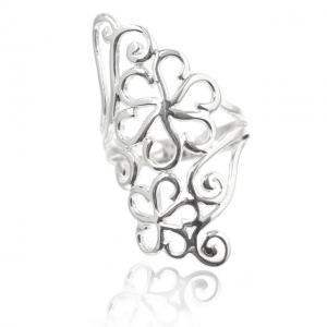 Inel Flowers Argint 925 by Borealy Marimea 80