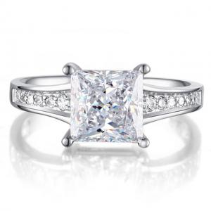 Inel Borealy Argint 925 Simulated Diamond Zirconiu Princess Marimea 7