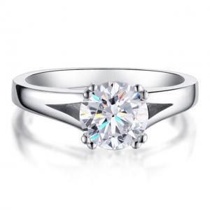 Inel Solitaire Simulated Diamond Argint 925 Marimea 60
